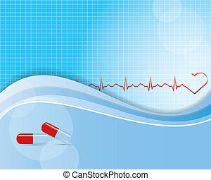 Abstract medical background  - vector