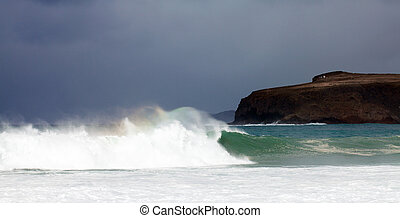 Breaking waves off north west coast of Cran Canaria