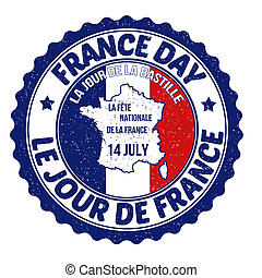 France day rubber stamp