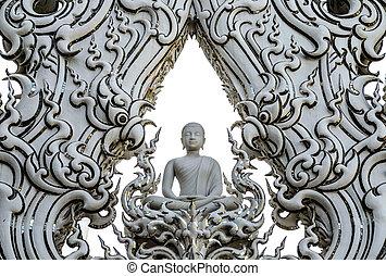 Buddha statue at Wat Rong Khun, Chiang Rai Province, Thailand