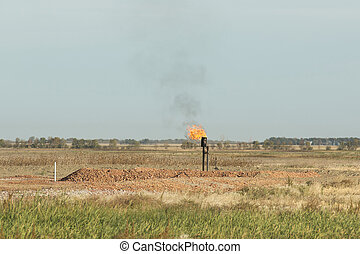 Gas Well - A natural Gas well in North Dakota