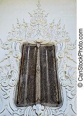Old Door at Wat Rong Khun, Chiang Rai Province, Thailand