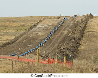 Natural Gas Pipeline - A new pipeline being put across the...