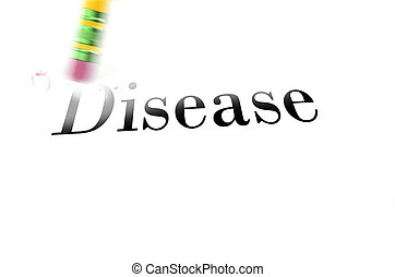Erasing Disease with Pencil Eraser - Person using a pencil...