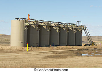 Oil Tanks - Tanks holding crude oil