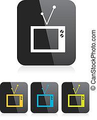 vector tv icon. online tv symbol. app icon