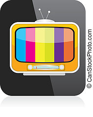 vector tv icon online tv symbol app icon