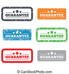Guarantee sign icon. Certificate symbol
