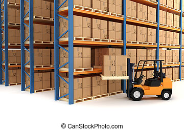 3d warehouse and forklift
