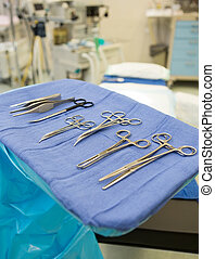 Various Surgical Tools - Closeup of various surgical tools...