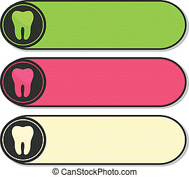Colorful dental banners with tooth - Dental banners...