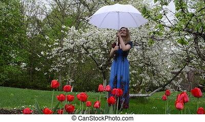 garden flower woman