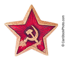 viejo, soviético, estrella