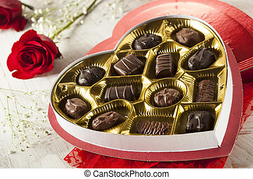 Box of Gourmet Chocolates for Valentines Day - Fancy Box of...