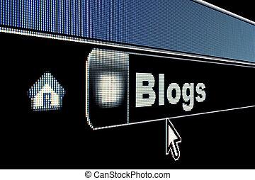 Internet Blogs Concept - Blogs concept on an internet...