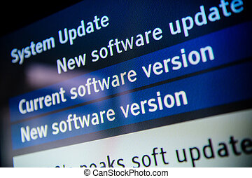 System update software available on a modern smart TV set.