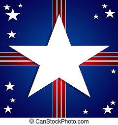 americano, bandiera, disegno