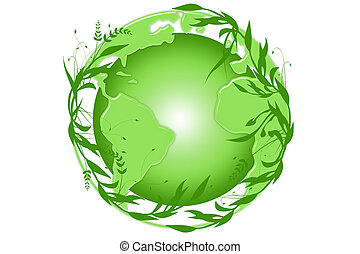 Green Earth - Green earth symbolizes greenery for healthy...