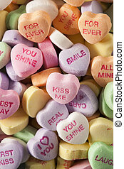 Candy Conversation Hearts for Valentines Day - Colorful...