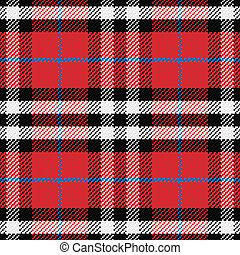 vector seamless pattern Scottish tartan 4, black, white,...