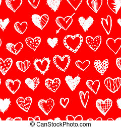Seamless pattern with valentine hearts for your design