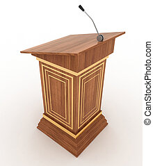Podium and microphone - Podium and microphone. 3d...