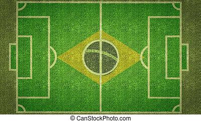 Brazil Football Soccer Pitch