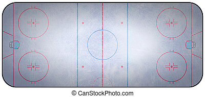 Ice Hockey Rink - An overhead view of an ice hockey rink...