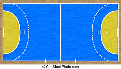 Handball Court - An overhead view of a handball court...