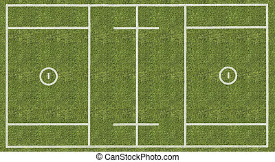 Mens Lacrosse Playing Field - An overhead view of a mens...