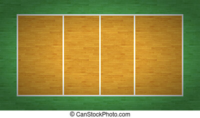 Volleyball Court - An overhead view of a volleyball court...