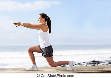 healthy woman working out
