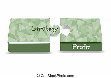 Strategy - A green puzzle box explains the importance recipe...