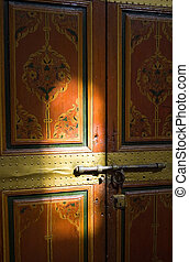 Painted door ligth playing - A painted door of the Bahia...