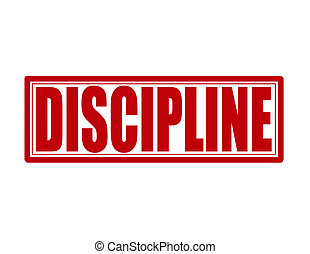 Discipline - Stamp with word discipline inside, vector...