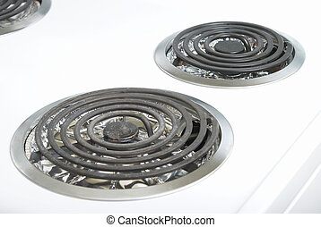 Stove Element - A macro of the top of a stove and its...