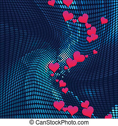 abstract mosaic background with heart deisgn vector...