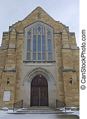 Historic Church Entrance of West Side Saint Paul - Neo...