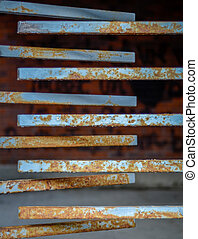 Rusty Turnstile - A Grungy Rusty Turnstile At A Abandoned...