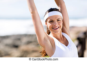 cheerful young healthy woman