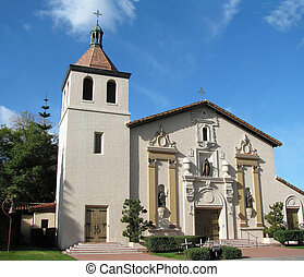 Mission Santa Clara - The historic Spanish mission church at...