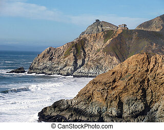Pacifica - The coast near Pacifica, northern California The...