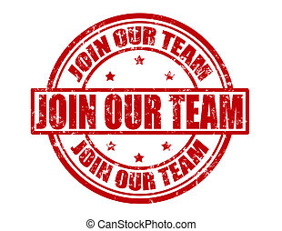 Join our team - Stamp with text join our team inside, vector...