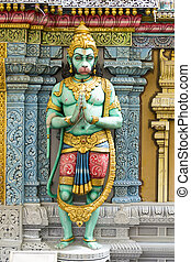 Hindu Green God Statue