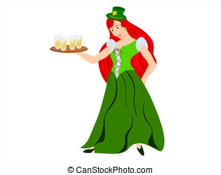 irish maiden red hair hat