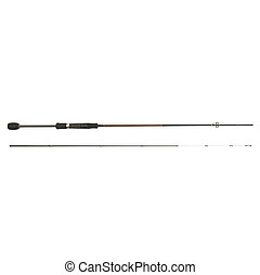 Fishing rod isolated - Professional fishing rod consisting...