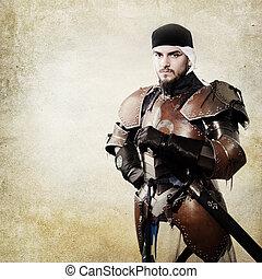 medieval, cavaleiro, armadura