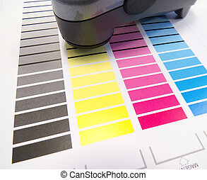 Spectrometer On Colour Chart - Printing colour charts for...