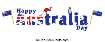 Happy Australia Day - A logo text wishing Happy Australia...