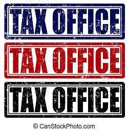 Tax office - Stamp with text tax office inside, vector...